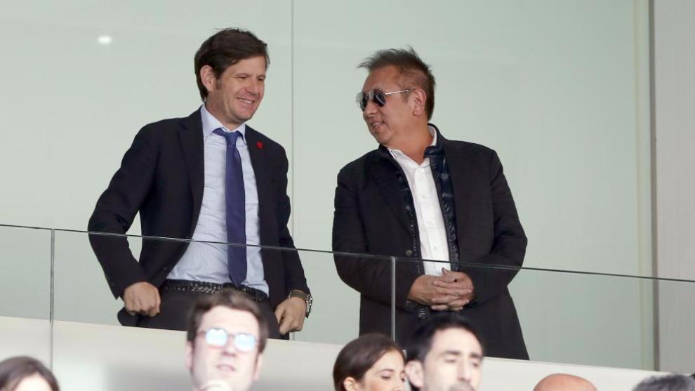 Alemany y Peter Lim en Mestalla.