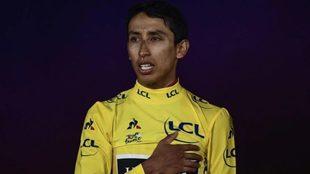 Bernal, en el momento en que sonó el himno colombiano en los Campos...