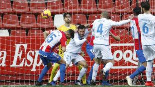 Gol del Deportivo frente al Sporting de Gijón.