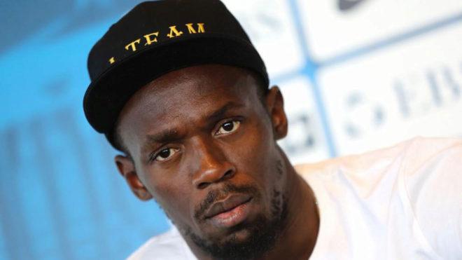 Usain Bolt, durante una rueda de prensa.