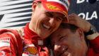 Schumacher y Todt en San Marino 2006.