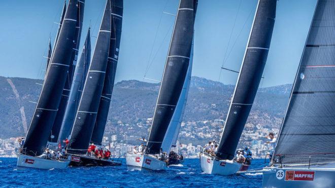 La flota de ORC1, compitiendo en la 38 Copa del Rey MAPFRE