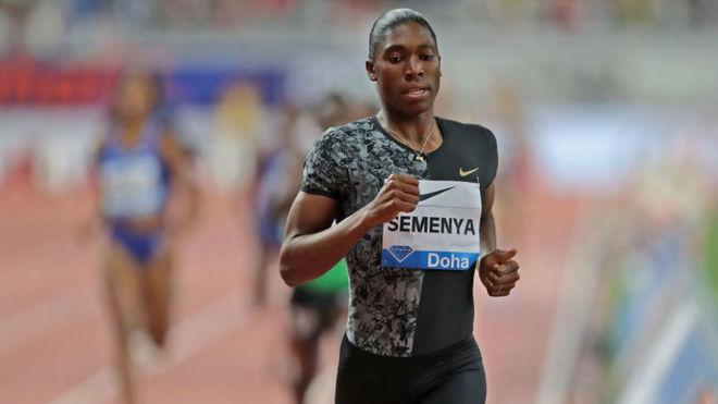 Semenya, en los 800 metros de Doha.