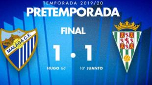Resultado Málaga-Córdoba