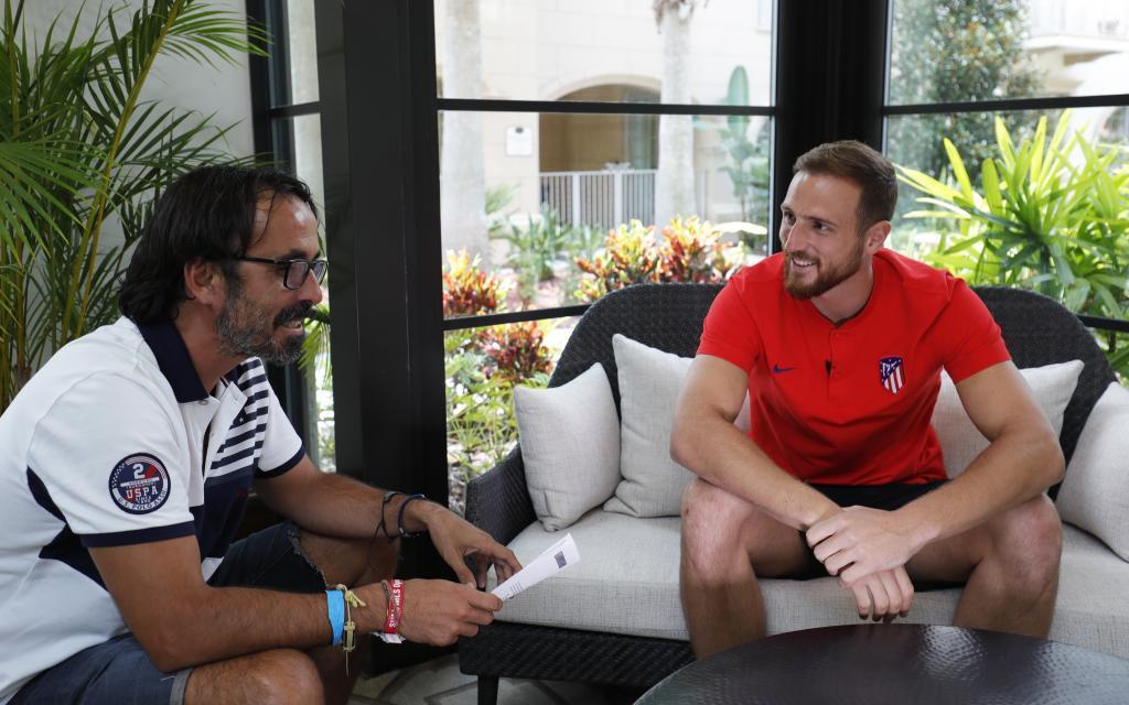 Oblak, durante la entrevista con MARCA