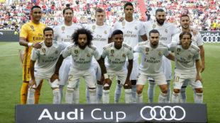 El once elegido por Zidane para la semifinal de la Audi Cup.