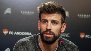 Piqué, en la presentación del nuevo patrocinador del Andorra.