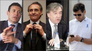 Salvo, Prandelli, García Pitarch y Alemany.