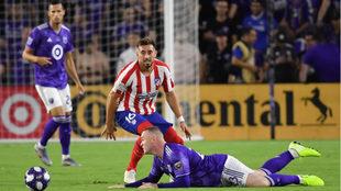 Herrera en acción frente al All-Star de la MLS.