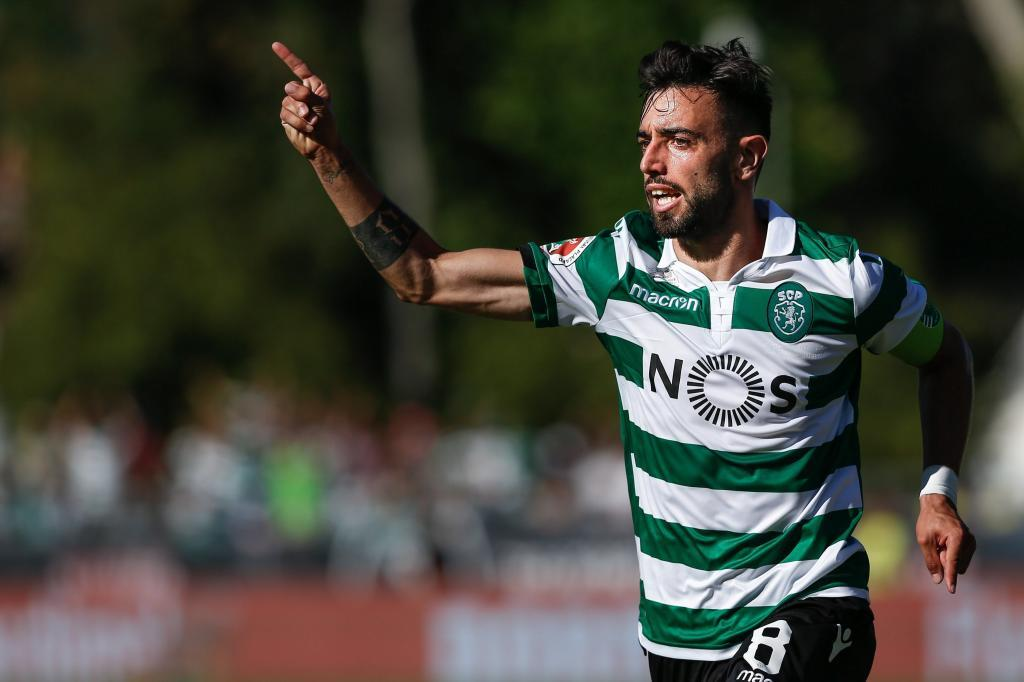 RA. Oeiras (Portugal), 25/05/2019.- Sportings player <HIT>Bruno</HIT><HIT>Fernandes</HIT> celebrates after scoring a goal during the Portuguese Cup final soccer match between Sporting CP and FC Porto held at Jamor stadium in Oeiras, Portugal, 25 May 2019. EFE/EPA/RODRIGO ANTUNES