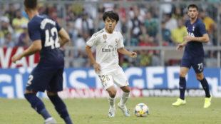Takefusa Kubo, durante el partido ante el Tottenham.