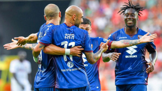 Zaza celebra un gol con el Torino.