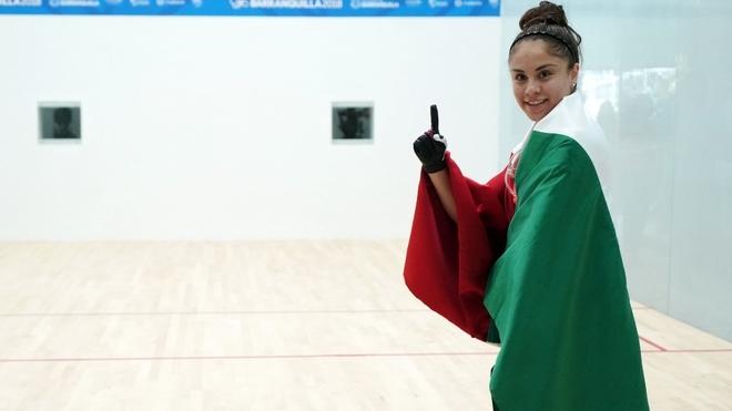 Paola Longoria comienza su participación en Lima 2019.