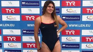 María Claro, nueva campeona de Europa júnior en aguas abiertas.