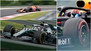 Verstappen, Hamilton y Gasly.
