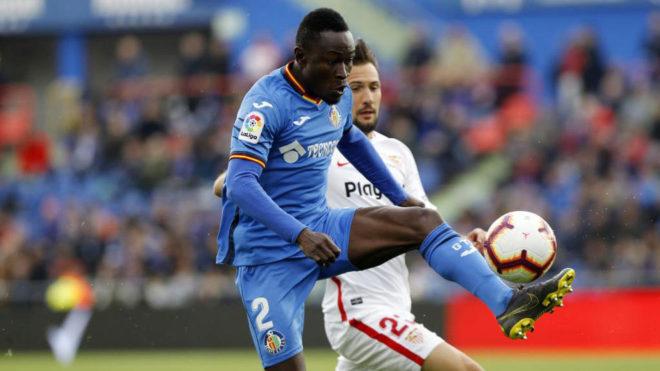 Djene in action against Sevilla.