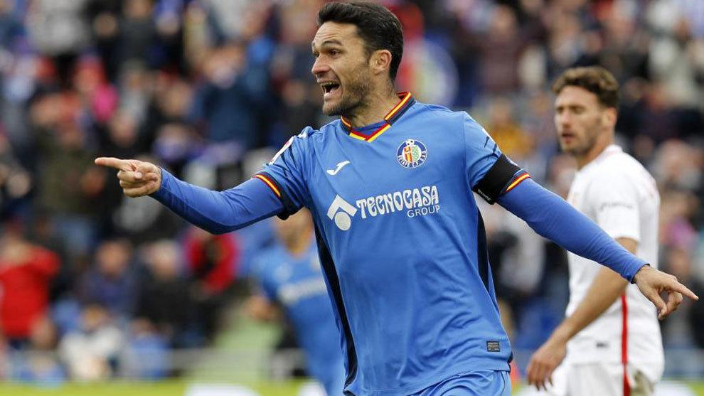 Jorge Molina celebra un gol en una imagen de archivo.