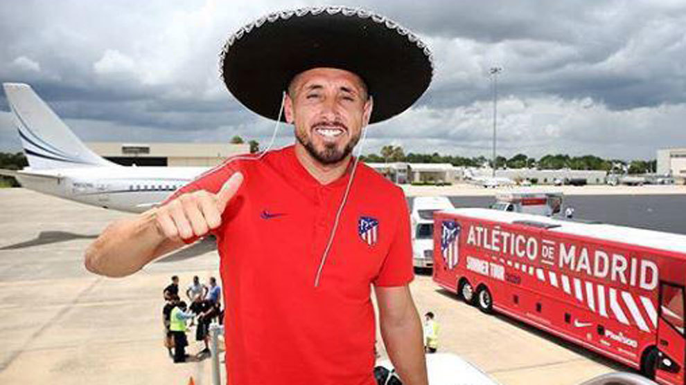 Héctor Herrera, a la llegada a México.