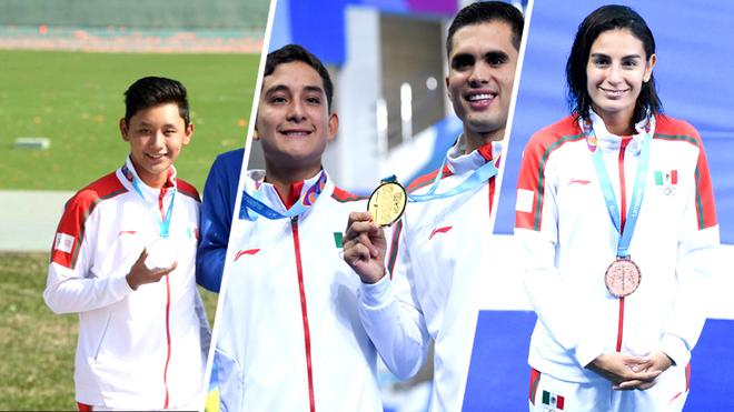 México ganó oro y bronce en clavados.
