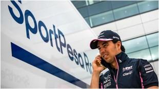 Checo Pérez, en un Gran Premio.