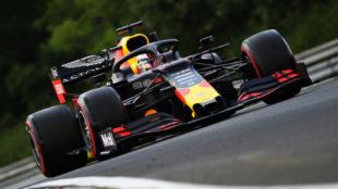 Verstappen, durante la calificación de hoy.