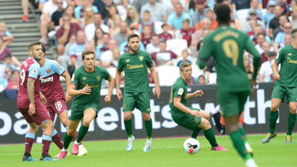 Momento del partido entre West Ham y Athletic