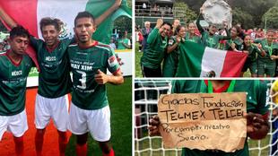 Así celebraron las selecciones de México su título en la Homeless...