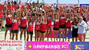 El equipo Panduro de Almería, camepón de España femenino /