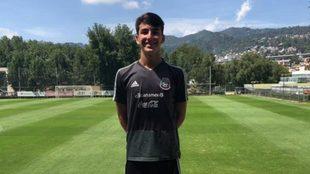 Diego Abreu en un entrenamiento.