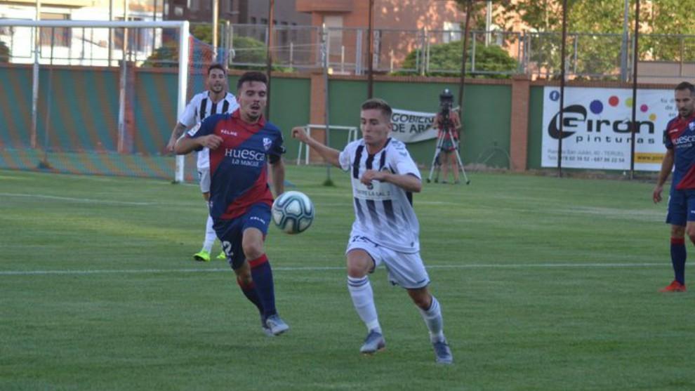 Lance del partido que enfrentó al Castellón y el Huesca