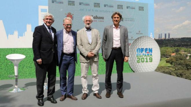 Presentación del Open de España de golf