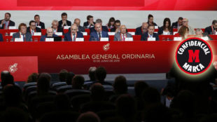 El presidente de la RFEF, Luis Rubiales, durante la última Asamblea.