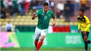 Mauro Lainez, celebrando su gol ante Ecuador.