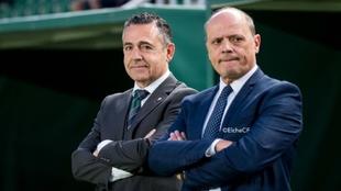 Diego García, a la izquierda, junto a Joaquín Buitrago en el...