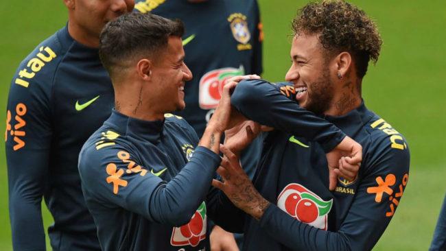 Neymar y Coutinho.