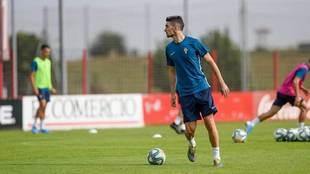 Borja López ya se entrenó este martes en las instalaciones de Mareo