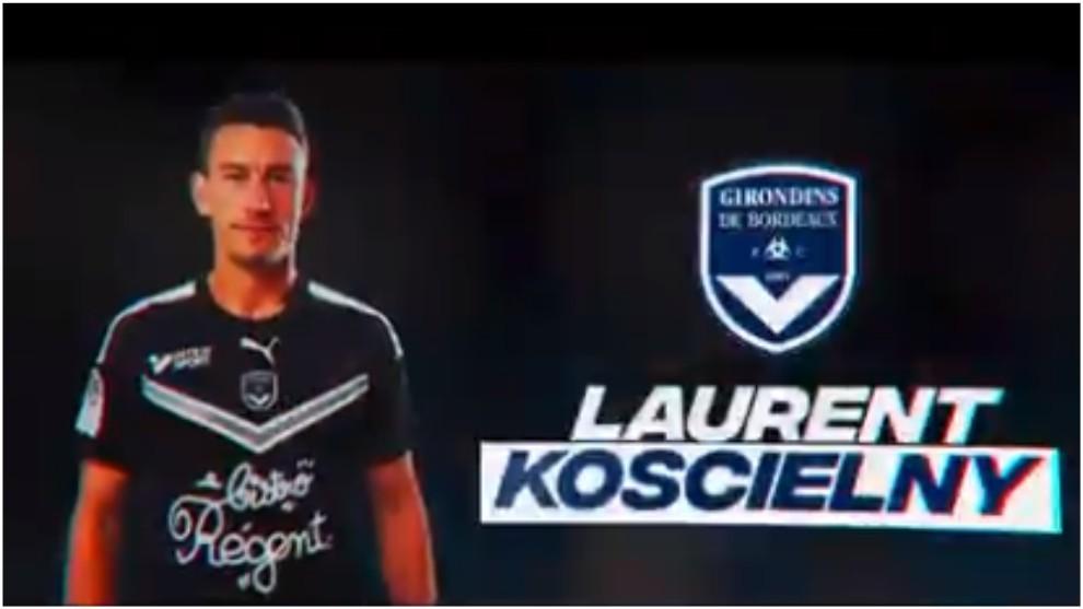 Laurent Koscielny, presentado con el Girondins Burdeos.