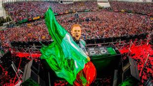 Armin van Buuren en un concierto en el Hermanos Rodríguez.