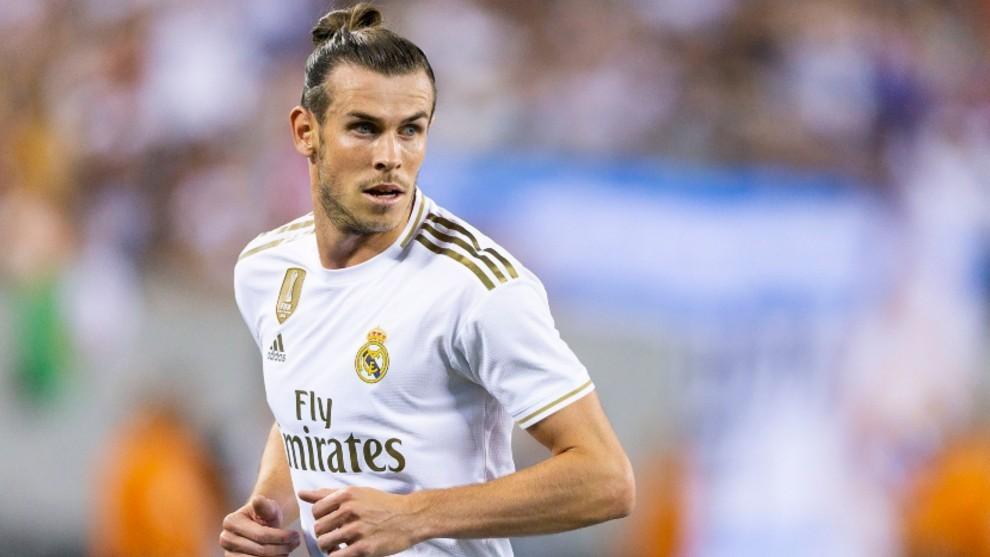 Bale en un partido de pretemporada con el Madrid