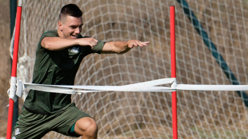 Giovani Lo Celso during a training session with Real Betis.
