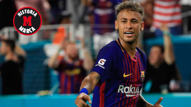 Neymar, en su último partido con la camiseta del Barcelona.