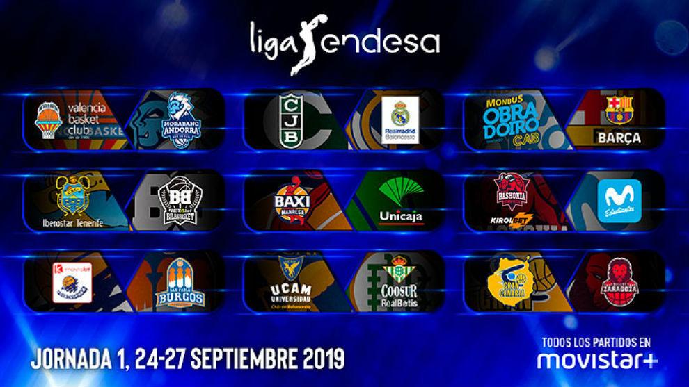 Calendario Unicaja.Acb Liga Endesa 2019 El Calendario De La Liga Endesa Al Completo