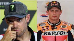 Cal Crutchlow y Stefan Bradl. (AFP y Motorsport)