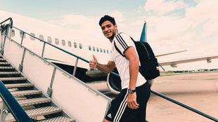 El mexicano viajó sin dificultades.