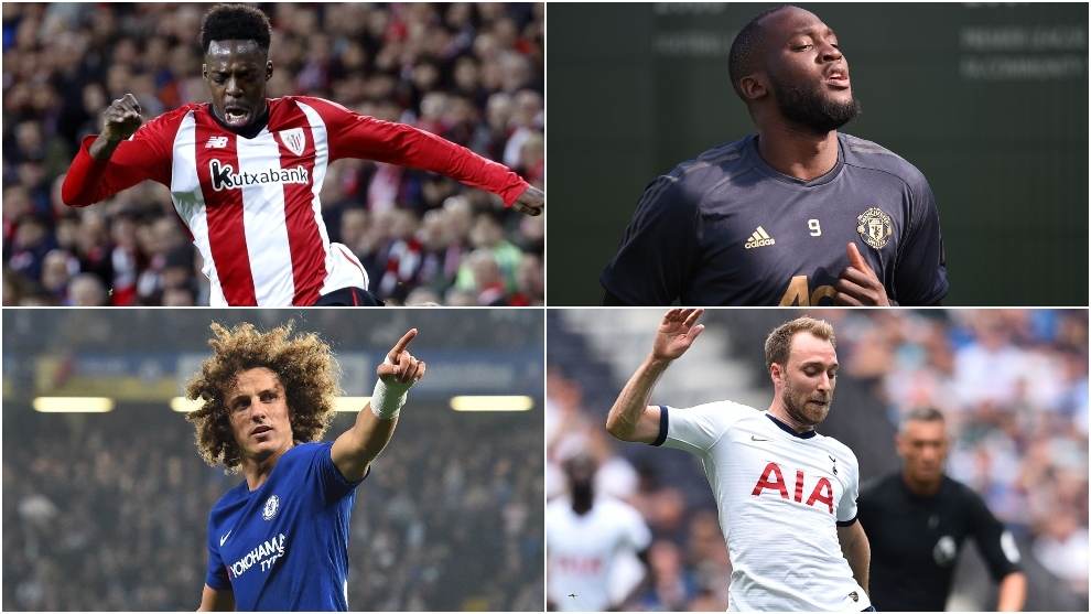 I.Williams, R.Lukaku, D.Luiz y Eriksen