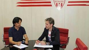 Ibán Andrés y Miguel Ángel Corona en una reunión de trabajo