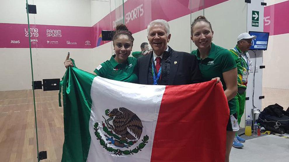 Paola Longoria, Carlos Padilla y Samantha Salas