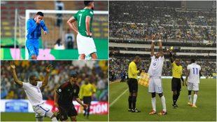 Caídas dolorosas de la selección mexicana ante Honduras.