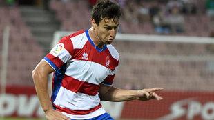 Nico Aguirre, en un partido con el Granada