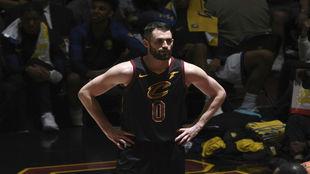 Kevin Love, en un partido de los Cavaliers.